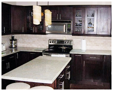 Kitchen with Dark Cabinets in Carrollton, TX
