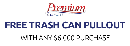 Free Trash Can Pullout with Any $6,000 Purchase